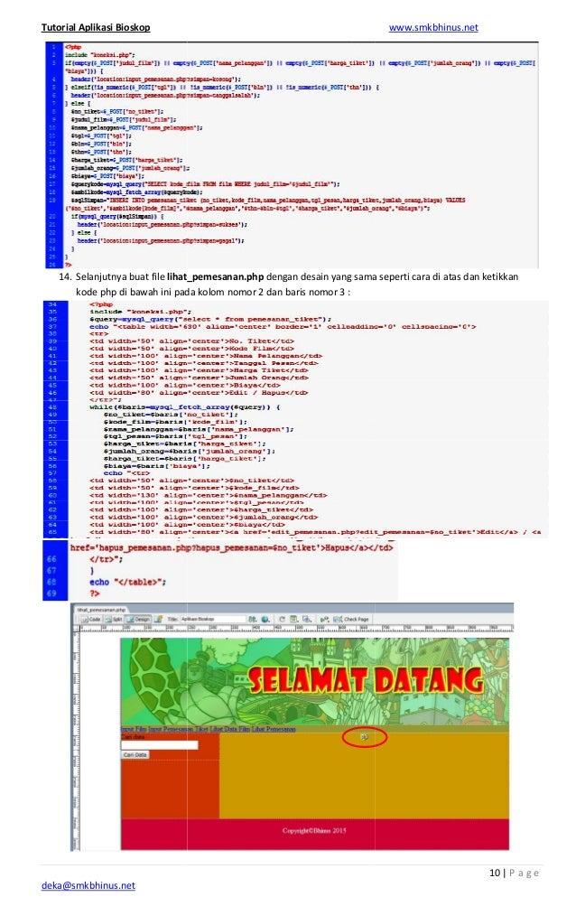 php web application tutorial
