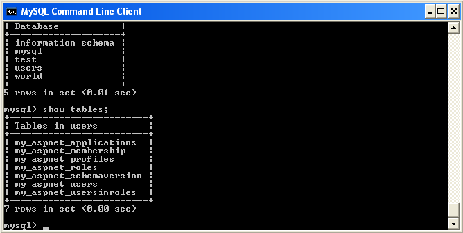 mysql 5.5 command line client tutorial