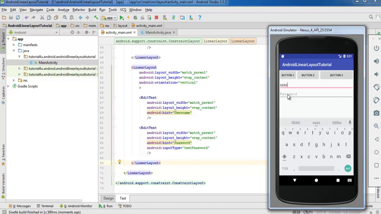 android tutorial for beginners using android studio