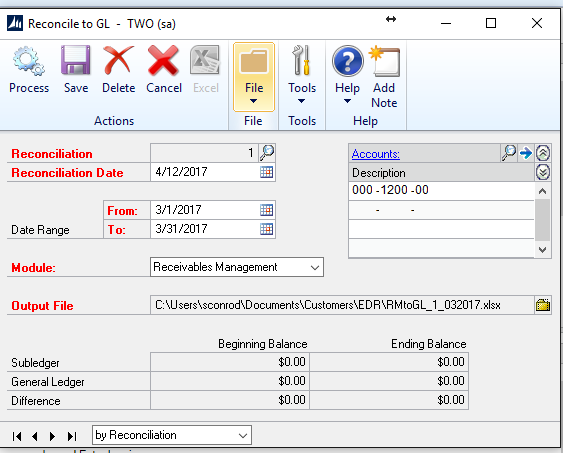 dynamics gp bank reconciliation tutorial