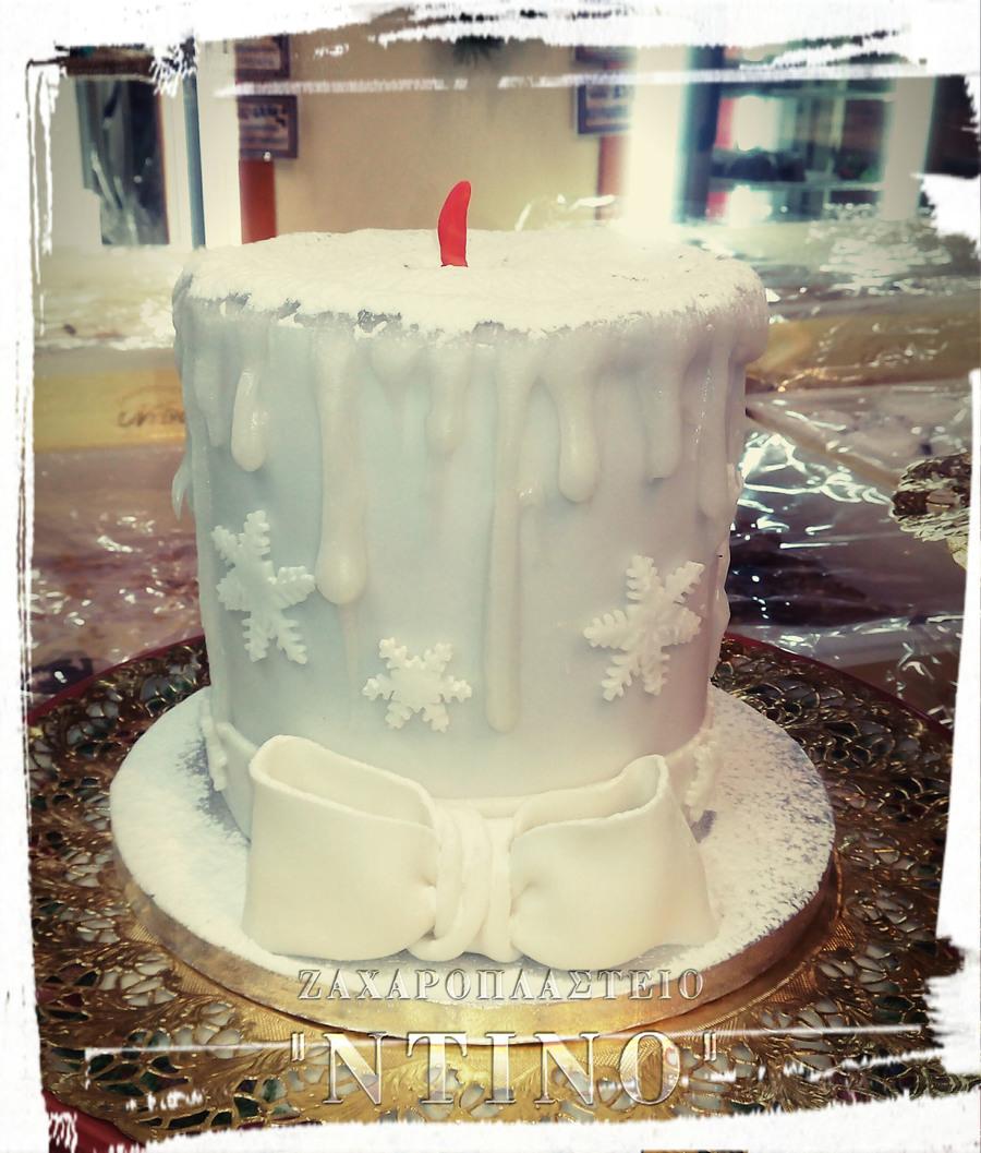 christmas candle cake tutorial