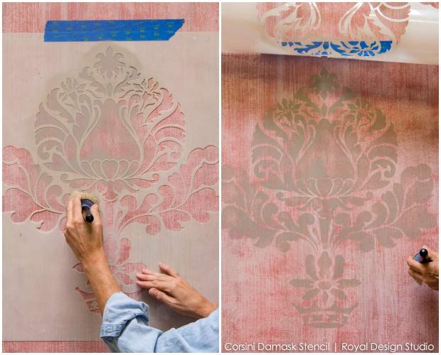 stenciling on fabric tutorial