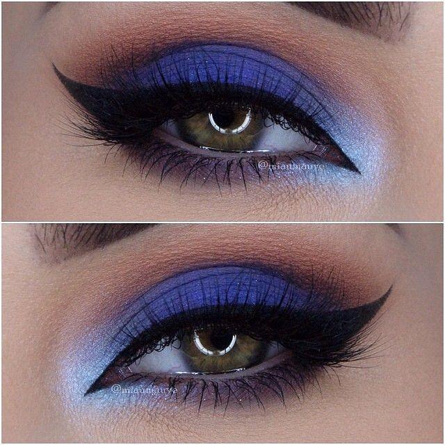 blue and silver eyeshadow tutorial