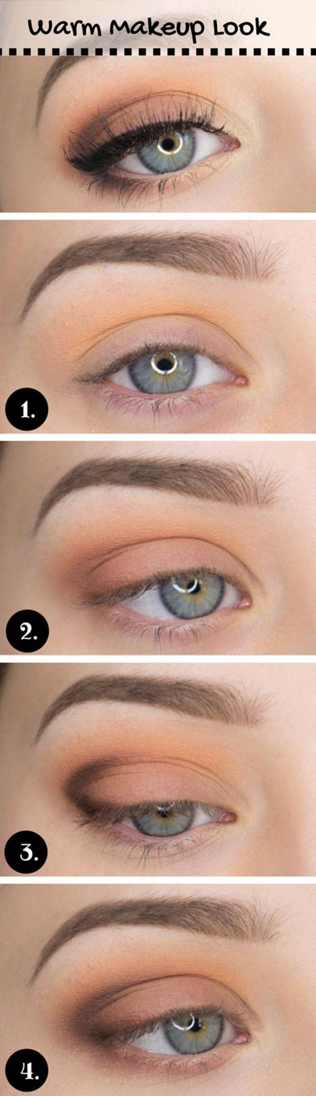 fall makeup tutorial for brown eyes