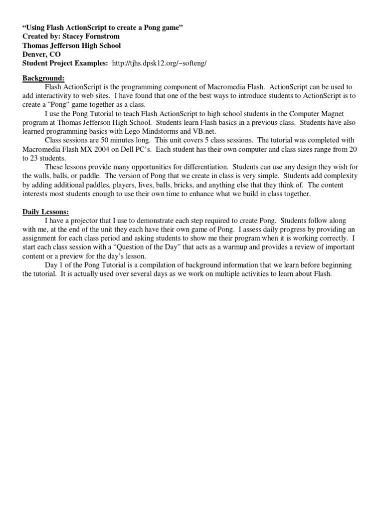 macromedia flash tutorial pdf