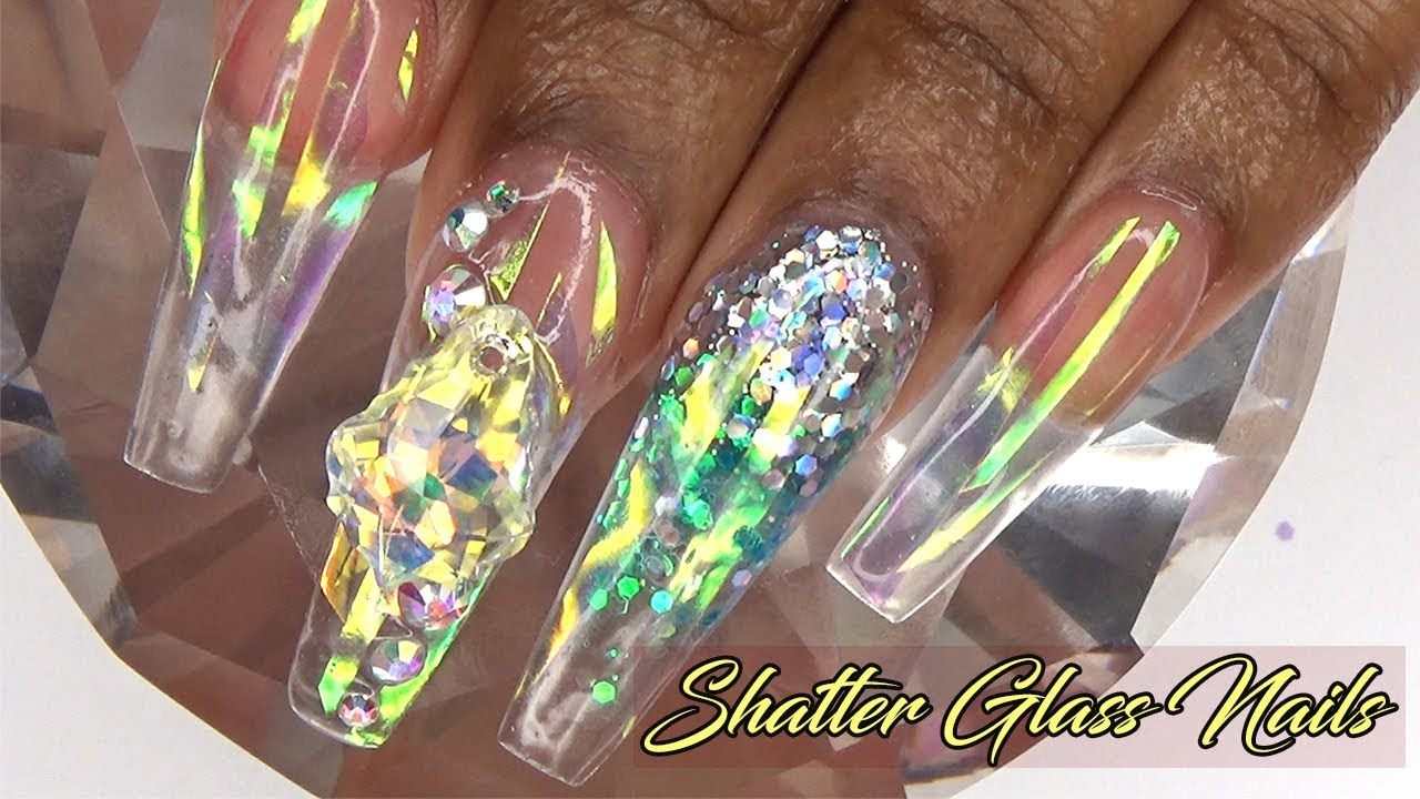 shattered glass nails tutorial