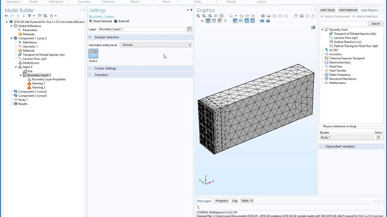 comsol tutorial for beginners