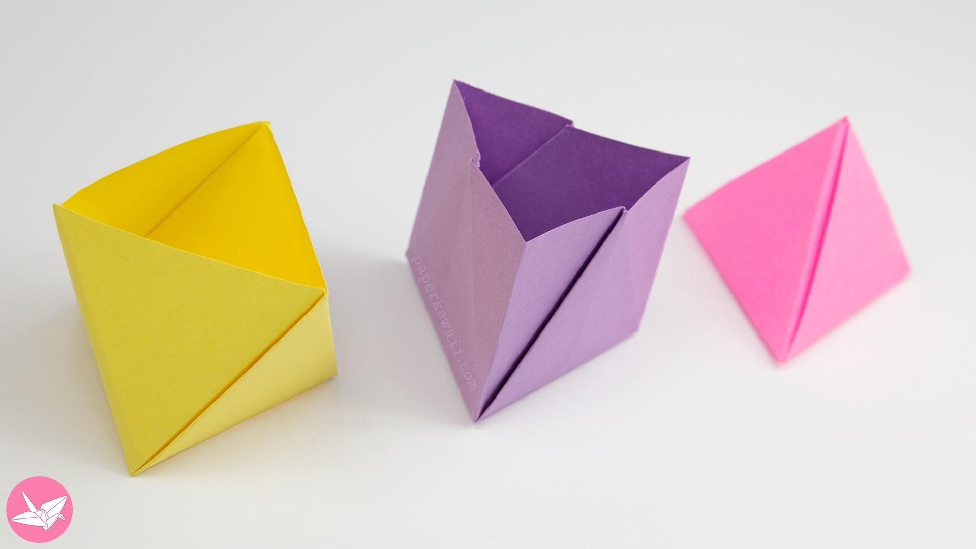 3d origami box tutorial