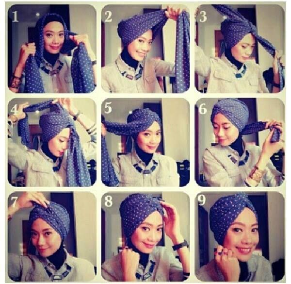 turban style head scarf tutorial