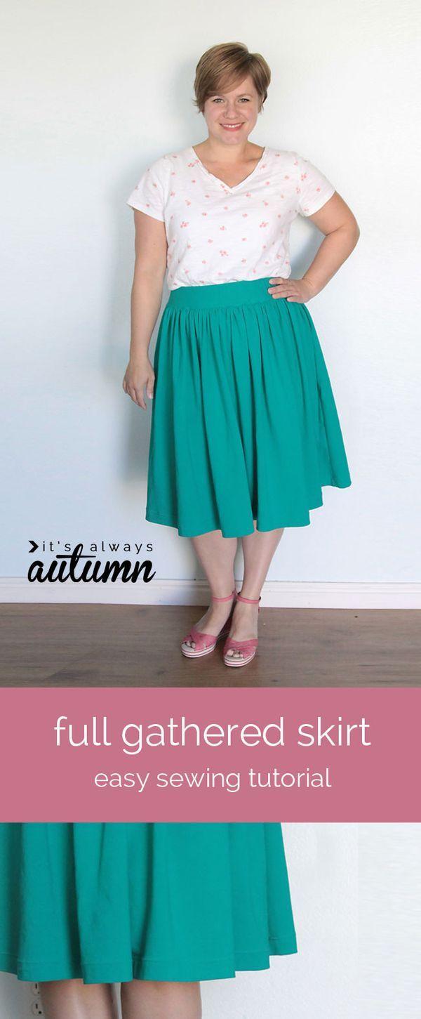 elastic waist dress tutorial