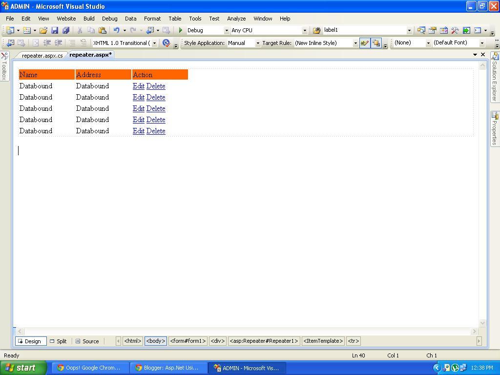 asp net repeater tutorial