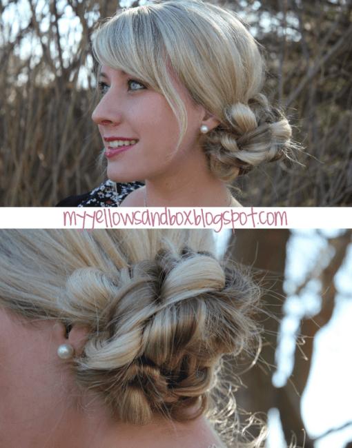hair stick bun tutorial
