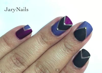 matte nail art tutorial