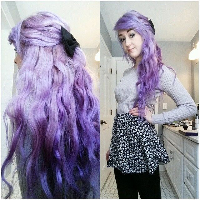 blue ombre hair tutorial