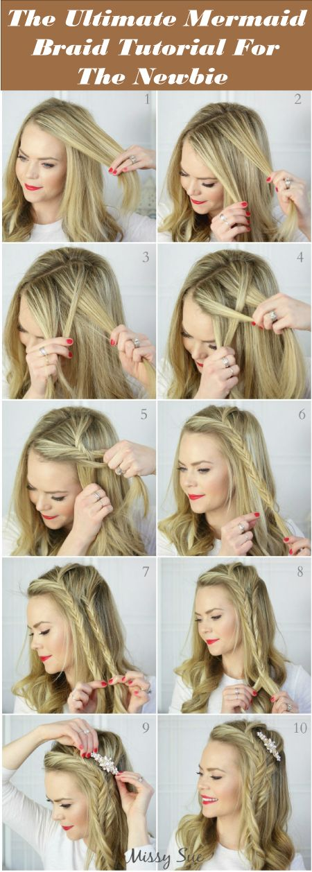 mermaid braid hair tutorial