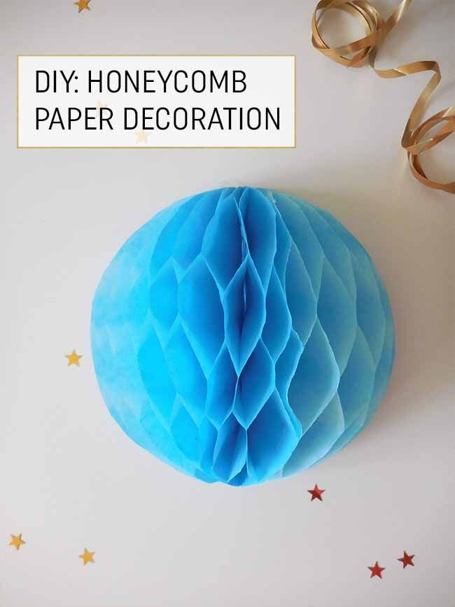 honeycomb ball diy tutorial