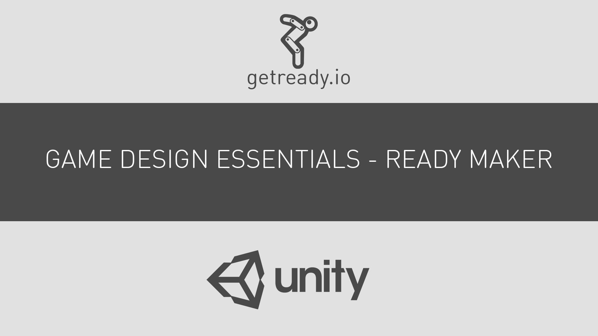 unity game design tutorial