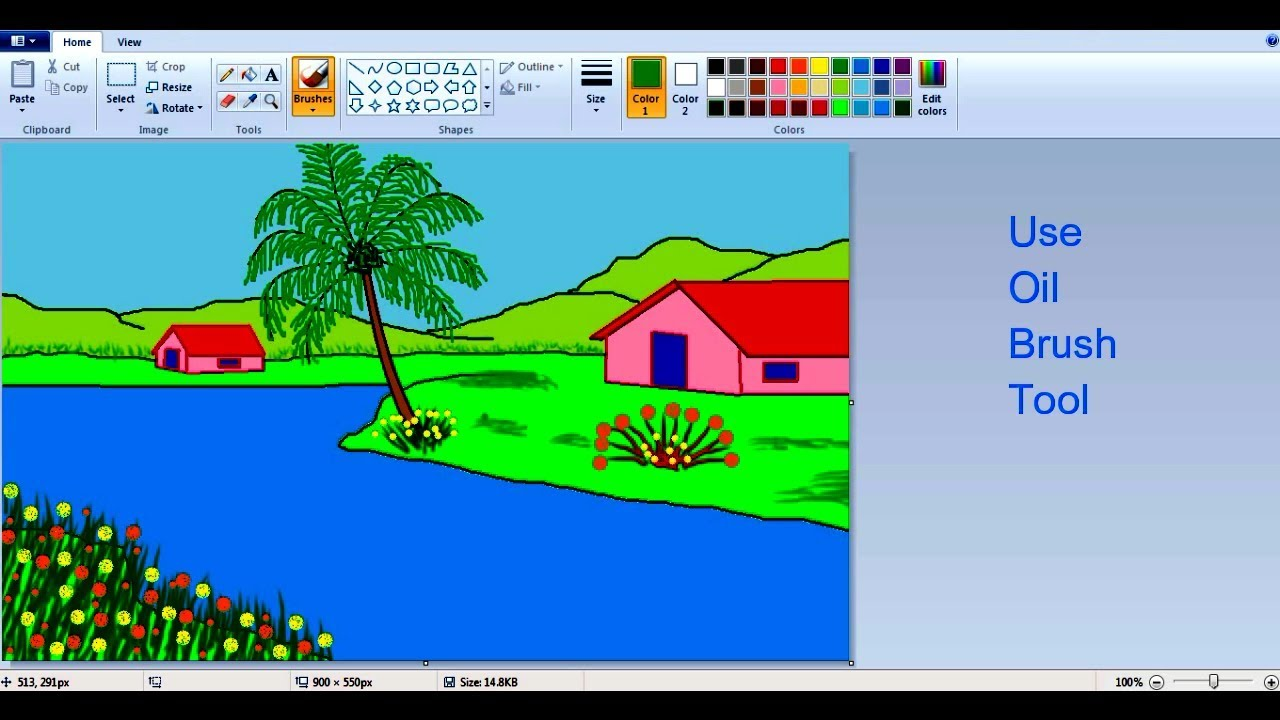 ms paint drawing tutorial