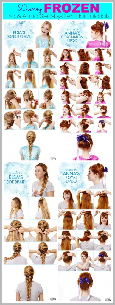 elsa coronation hair tutorial