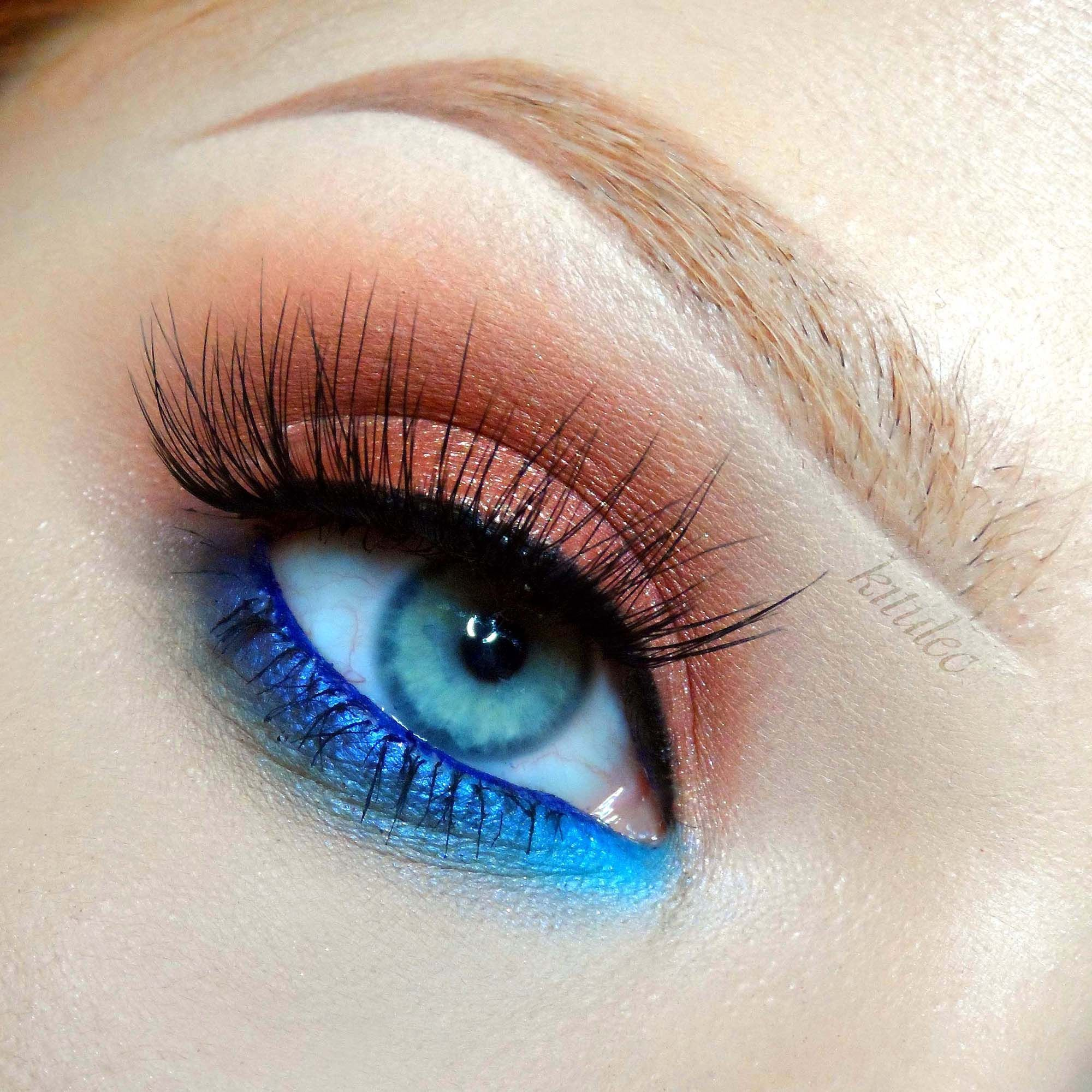 summer makeup tutorial for blue eyes