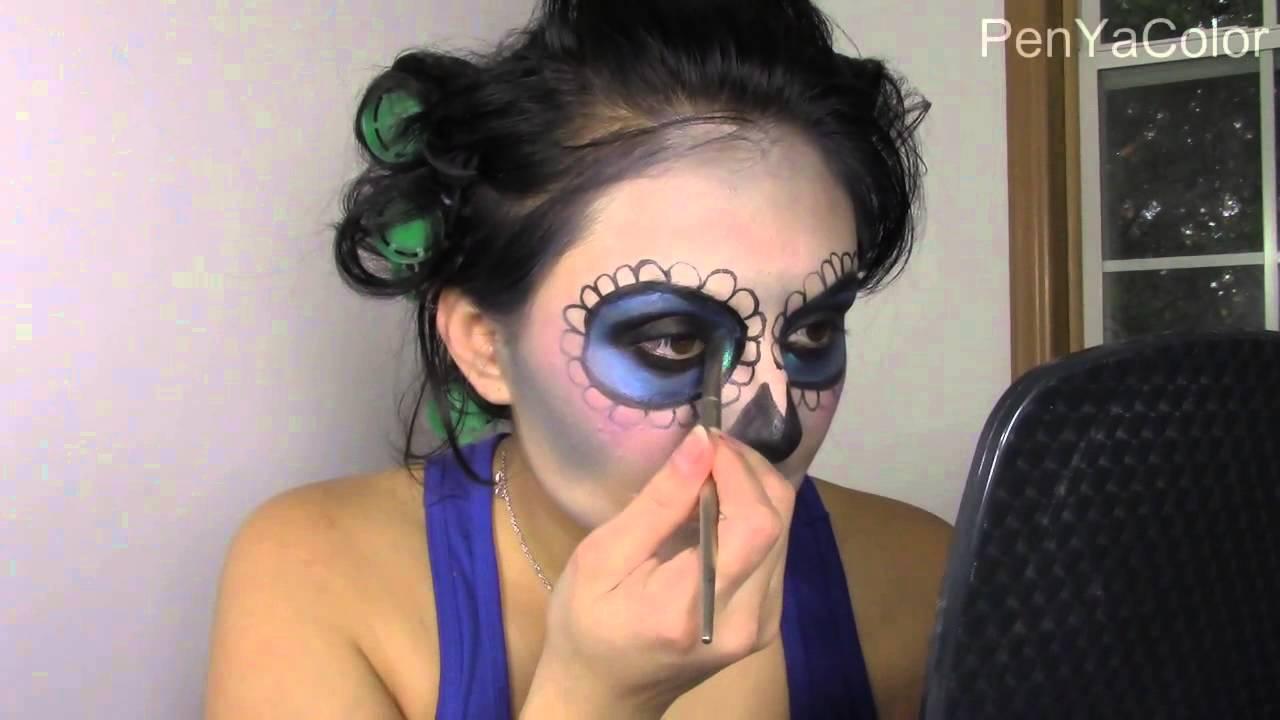 tutorial dia de los muertos makeup