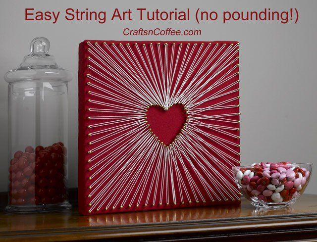 nail and string art tutorial