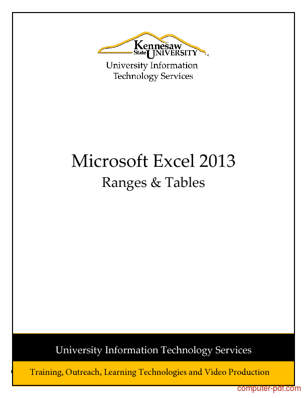 pivot table excel 2013 tutorial pdf