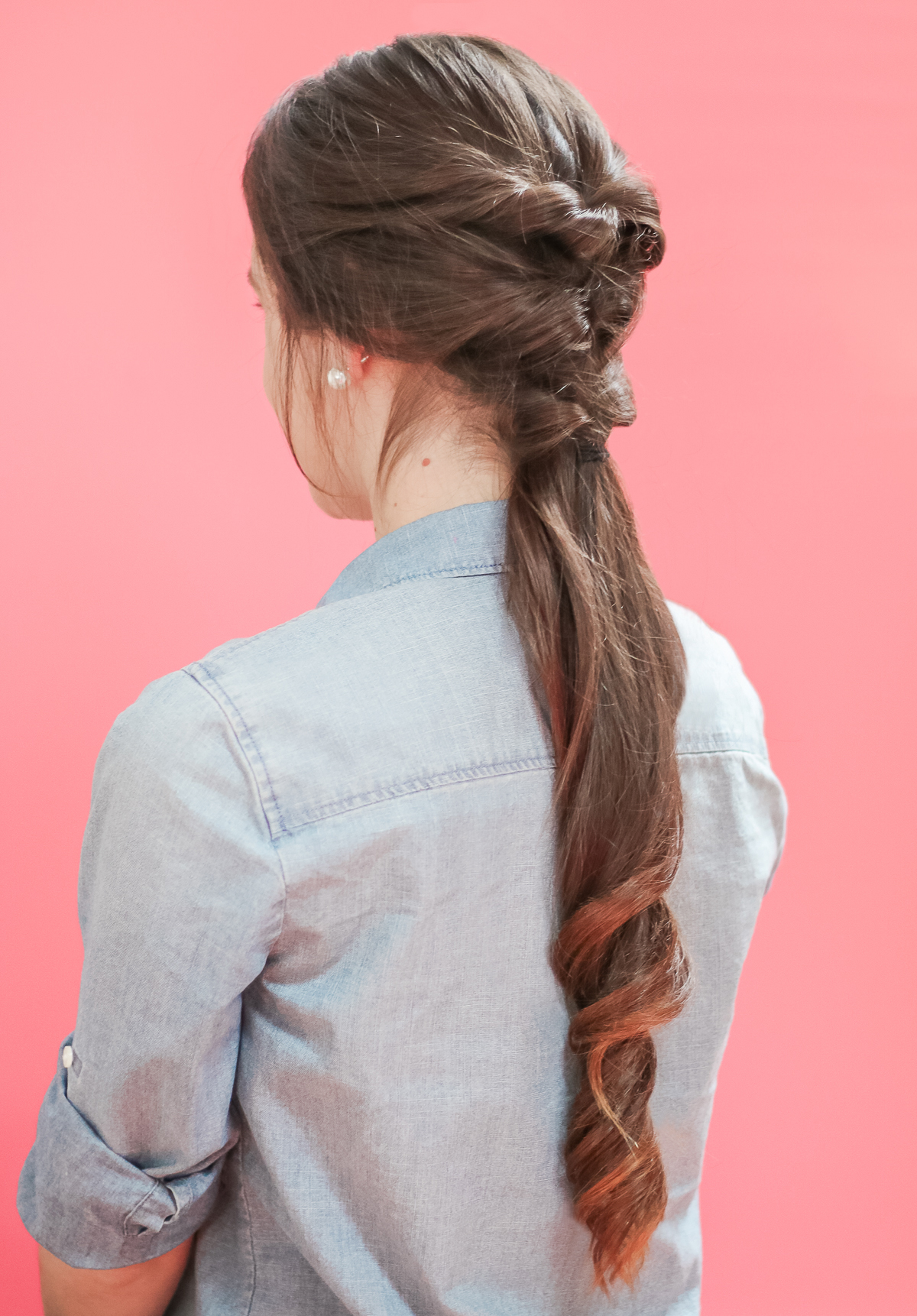 ponytail tutorial for long hair