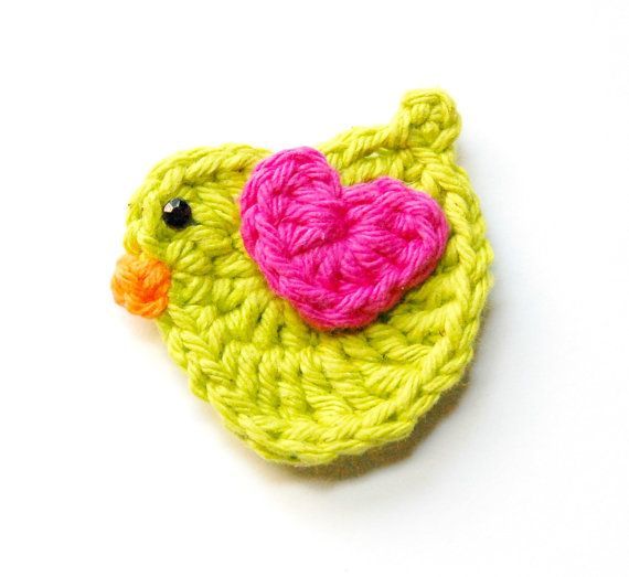crochet bird applique tutorial