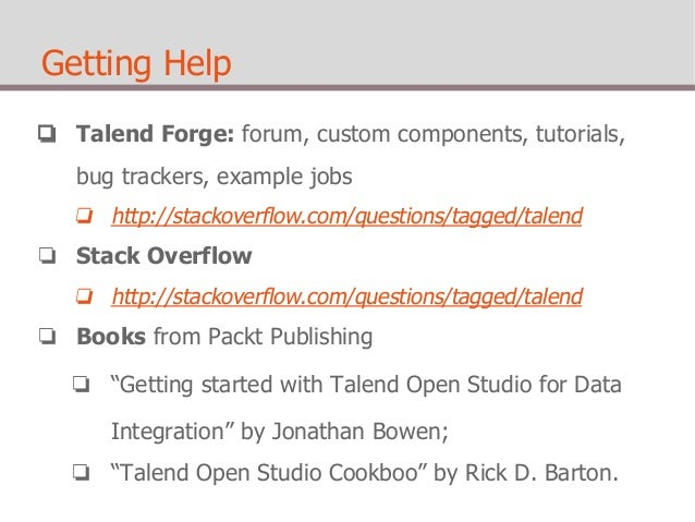 talend open studio video tutorial