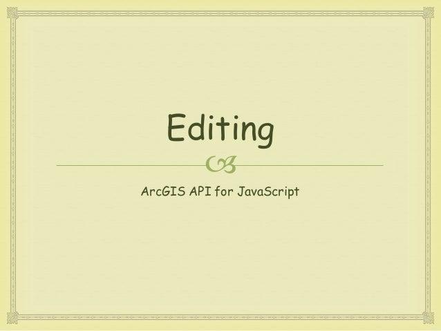 arcgis javascript api tutorial