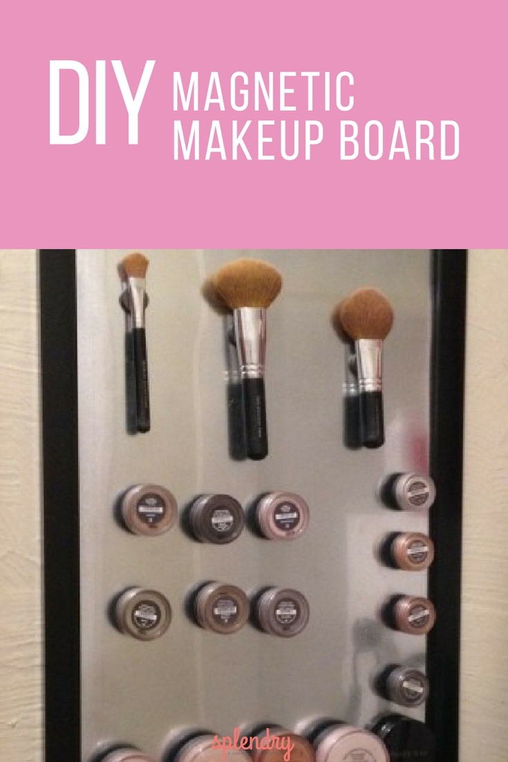 magnetic makeup board tutorial