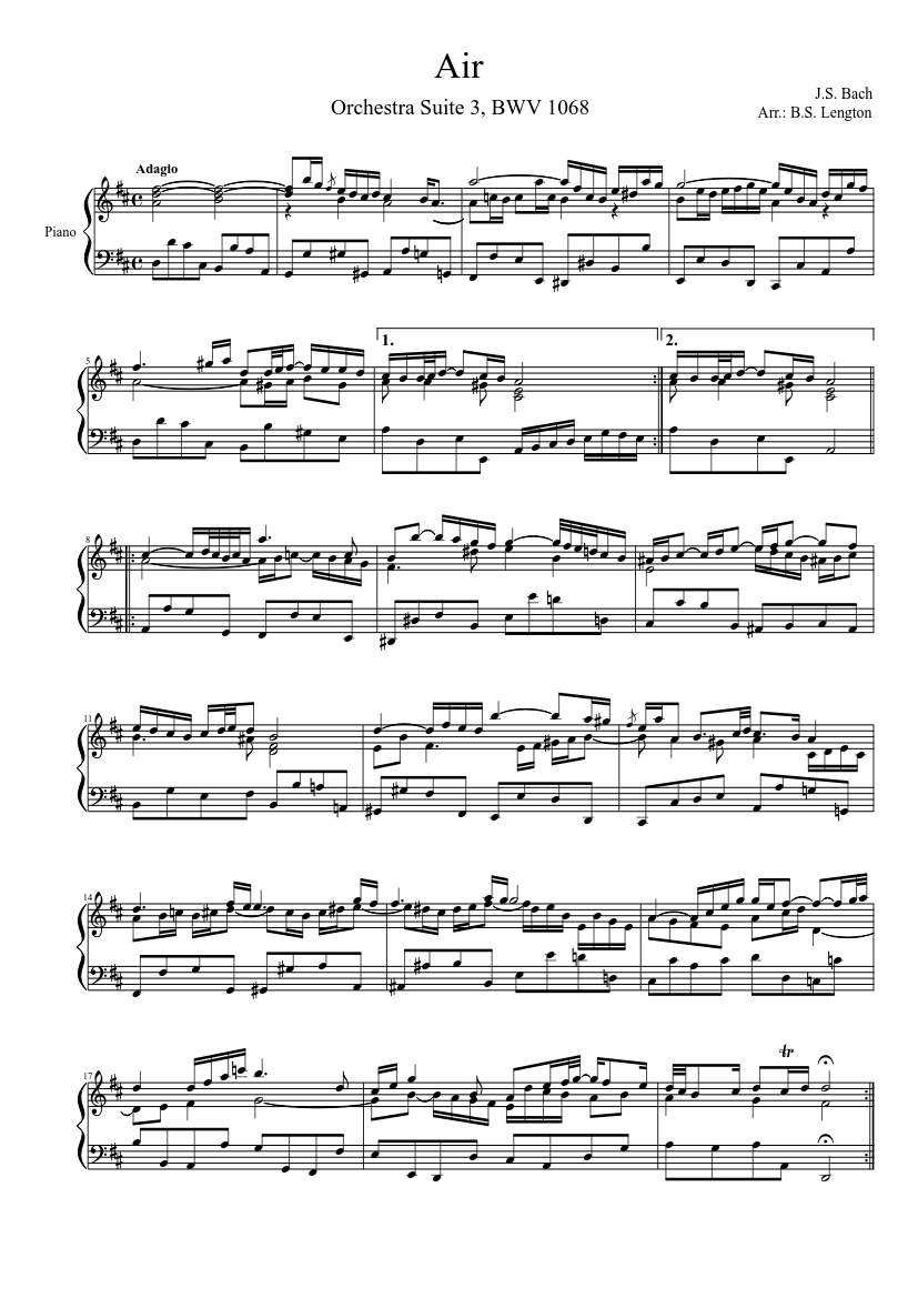 bach air piano tutorial