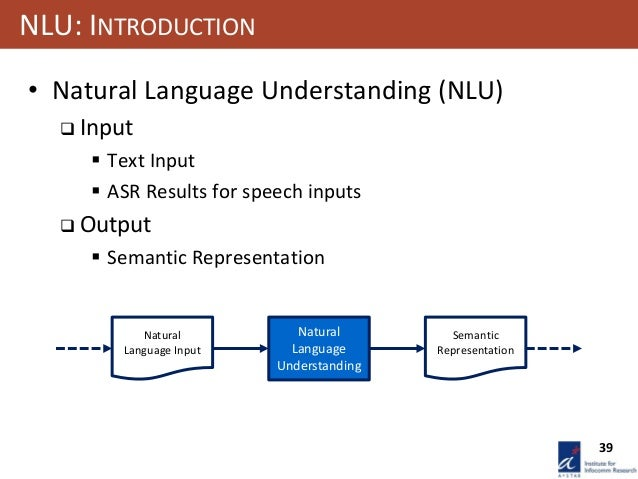 natural language understanding tutorial