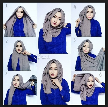 tutorial hijab paris segi empat