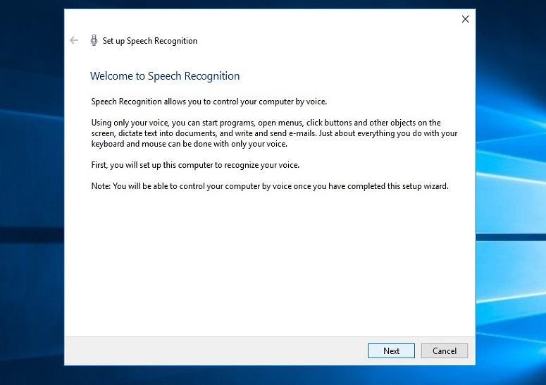 windows speech recognition tutorial