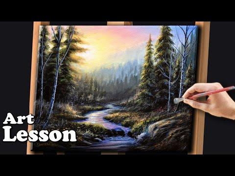 acrylic painting on black canvas tutorial