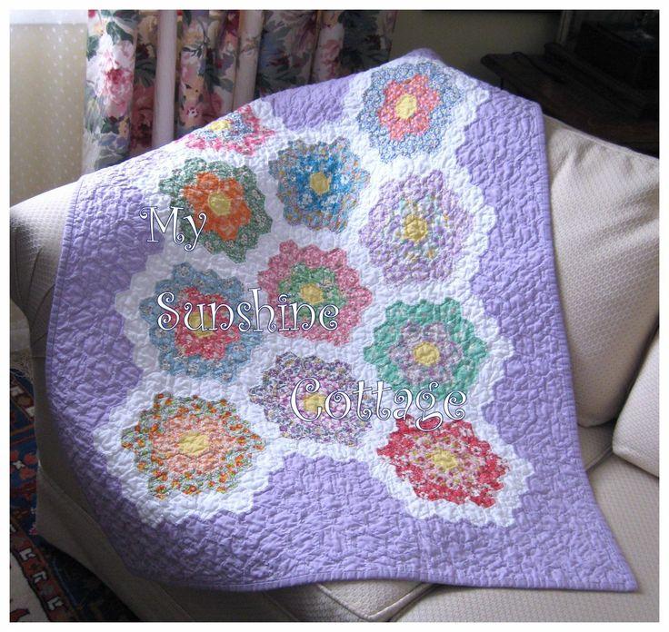 grandmother flower garden quilt tutorial