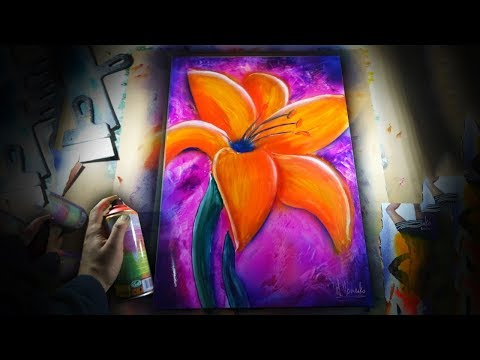 spray paint portrait tutorial