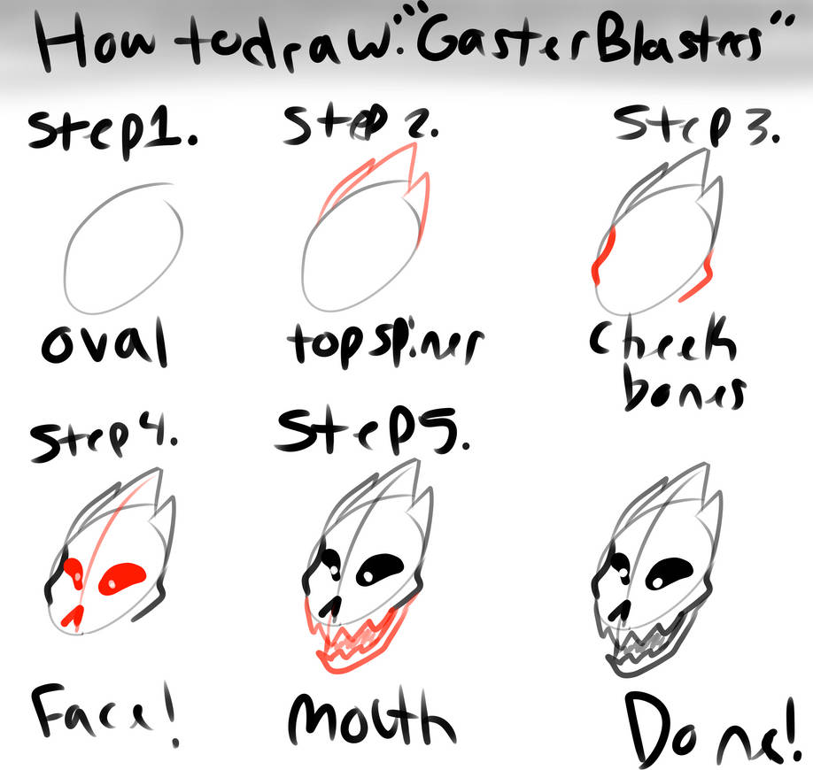 gaster blaster drawing tutorial