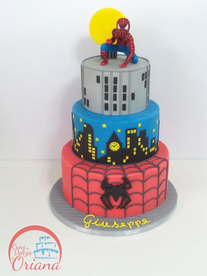 spiderman fondant cake tutorial