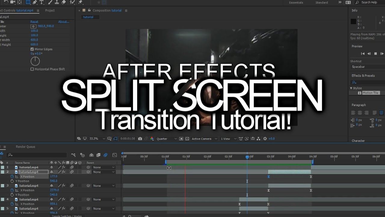 after effects split screen tutorial