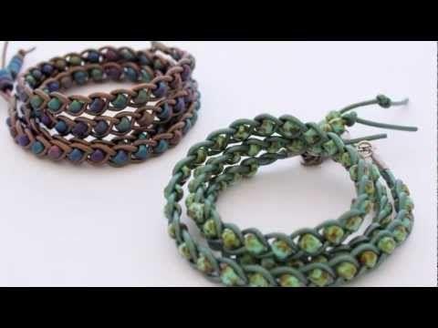 braided leather bracelet tutorial