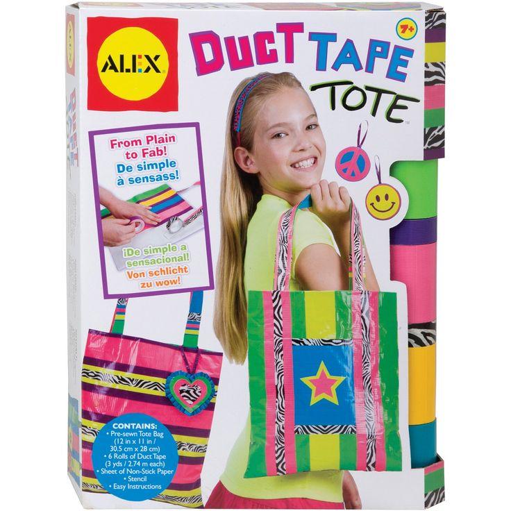 duct tape tote bag tutorial