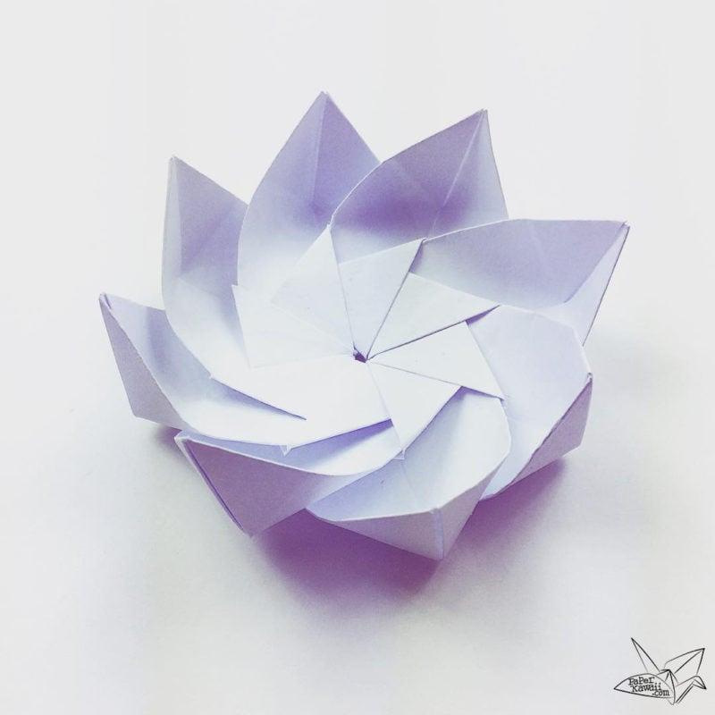 origami paper flower tutorial