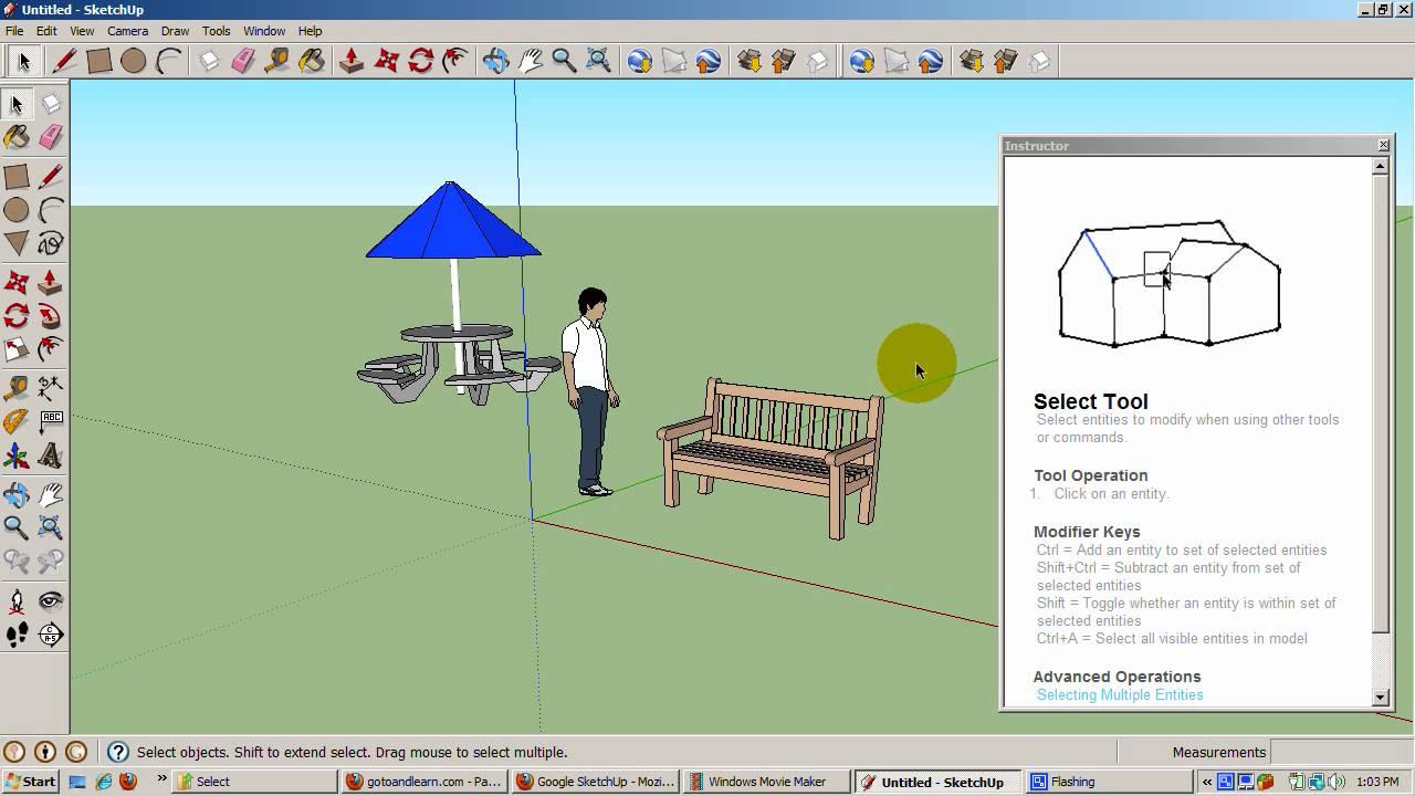 google sketchup tutorial 2