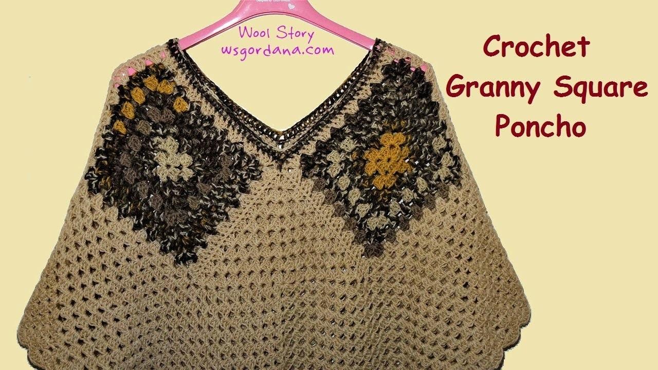 granny square poncho tutorial