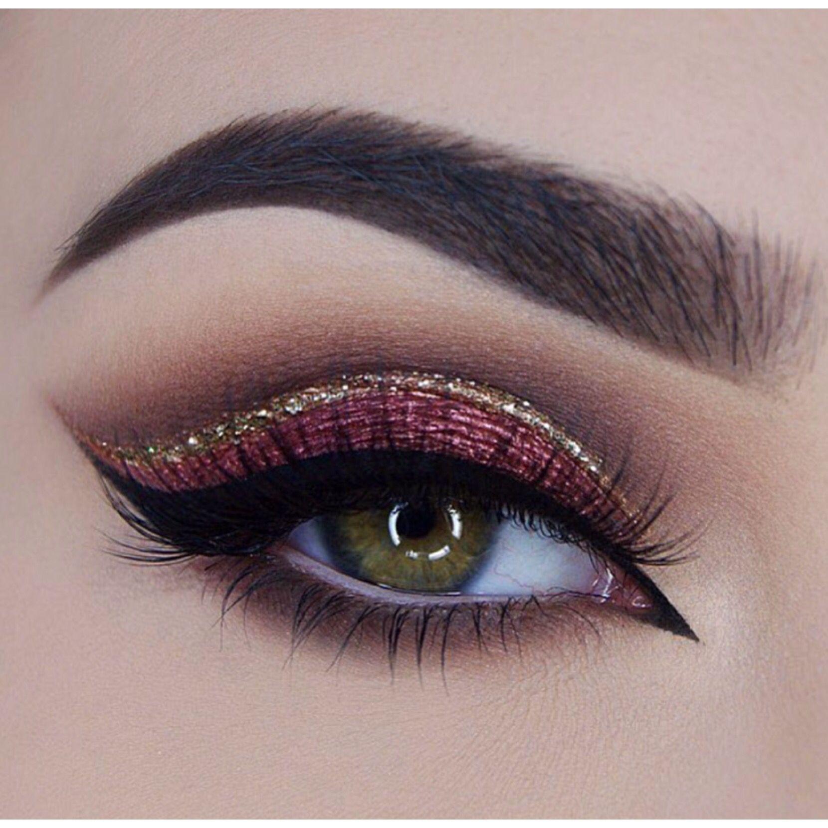 maroon eye makeup tutorial