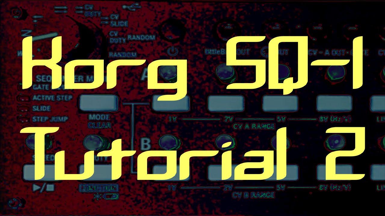 korg sq 1 tutorial