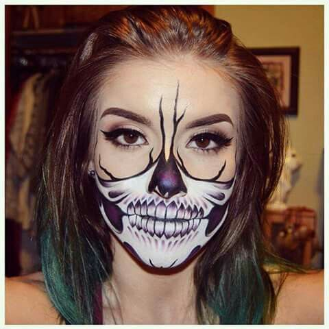 sugar skull face paint tutorial